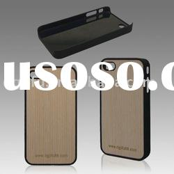 wood case for iphone 4/4S case with laser logo