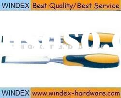 wood chisel with yellow handle