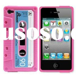 2011 New design Cassette Tape case for iphone 4 4G