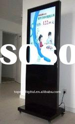37 inch free standing lcd signage display,digital advertising equipment with wheels