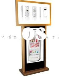 42+47 inch at top and bottom dual screen floor standing digital signage