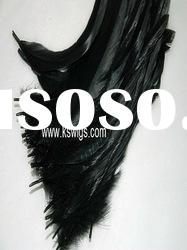 Best selling black color feather hair extension