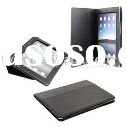 Black Leather Flip Sleeve Case Cover with Holder for iPad 2