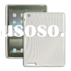 Clear Wave Design TPU Skin Case Cover for Apple iPad 2nd Generation