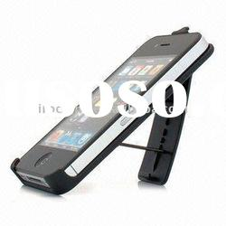 Fashion genuine leather case for iphone 4