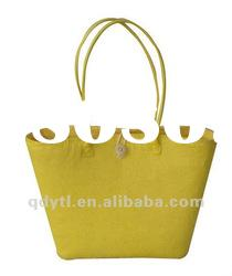 Fashionable wheat straw woven beach bag