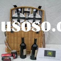 Handy Willow with Fabric Liner picnic Basket PRB-005