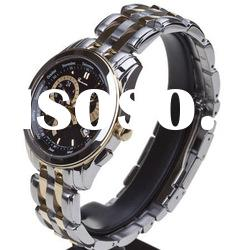 High quality stainless steel watch fashion leather western watches