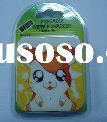 Hot Sale emergency cartoon battery charger for iphone,ipad,mobile