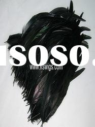 Hot sale black color feather hair extensions
