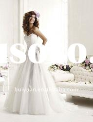 Newest full lace A-line wedding dresses