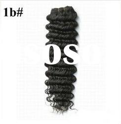On sale indian hair weave deep wave 100g/pcs