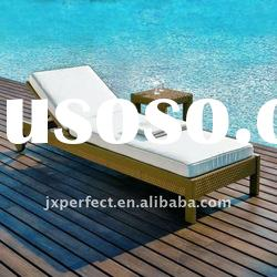 Outdoor Rattan Sun Lounger and Side Table garden furniture PF-8567-R