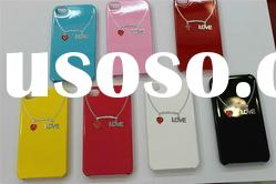 PROTECT COVER a love necklace in CASE For Iphone 4G 4S FEDEX DHL PAYPAL