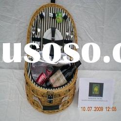 Popular 2-persons willow picnic basket PRB-004