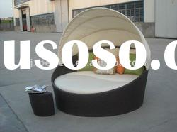 Popular outdoor sun bed garden rattan sofa PF-DB-005