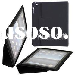 Slim Style For iPad 2 PU Leather Case with Built-in Stand (free cleaning cloth)