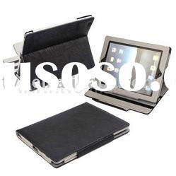 Soft Surface Slim Leather Skin Case with Built-in Stand & Magnetic Fastener Design for iPad 2