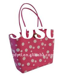Sun's spot series-pleasant pink wheat straw beach bag