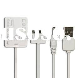 White 5 in 1 Camera Connection Kit USB Hub SD MMC TF MS M2 Card Reader For iPad 2