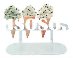 White Four Cone Ice Cream Cone Holder