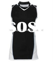 black white volleyball uniform,school girl's sports jersey