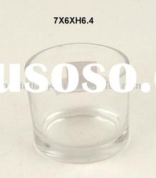 clear glass tea light candle holder of high quality