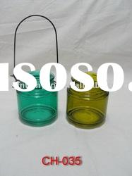 colourful hanging glass tea light candle holder with high quality