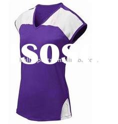 purple v-neck sleeveless jersey,volleyball sports uniform