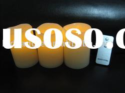 set 3 battery operated candle with remote control