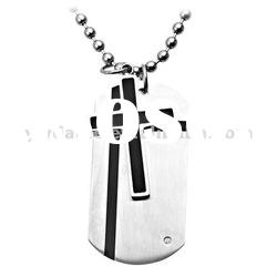 stainless steel cross pendant necklace 120848