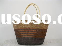 wheat straw beach bag