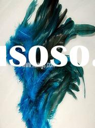 wholesale blue color feather hair extension