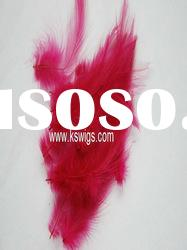 wholesale red color feather hair extension