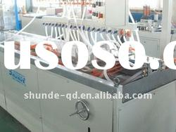 wood plastic profile extrusion line