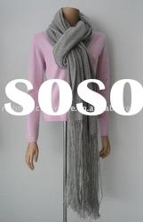 100% Cashmere Long Knitting Scarf