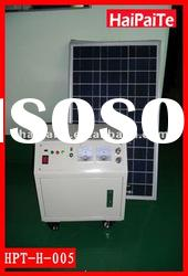 2012HaiPaiTe 30W inventer solar portable power system with 80w solar panel