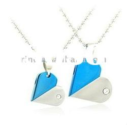 2012 Love drill steel new design heart party pendant necklace