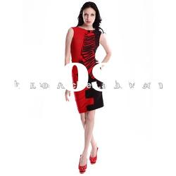 2012 Red Lady Fashion Party Dress,Evening Dress,Backless Dress DH090