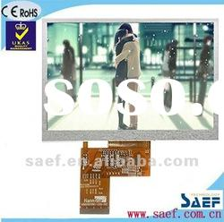 """5.00""""inch 800*(RGB)*480 W-VGA Landscape Color display TFT LCD display with Touch Screen Panel"""