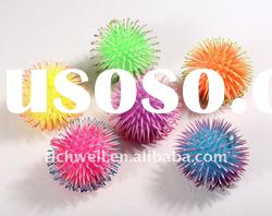 5 inch three tone puffer ball flashing ball fluffy ball