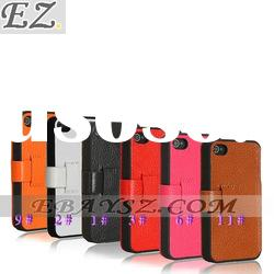 AIKE Free Shipping Deluxe Luxury Hot Selling Fashion Leather Case Cover For iPhone 4G LF-0326