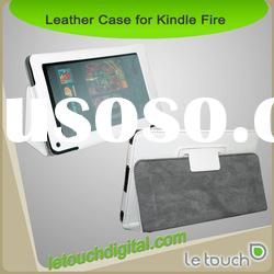 Black PU Leather Case w/ Stand For Amazon Kindle Fire