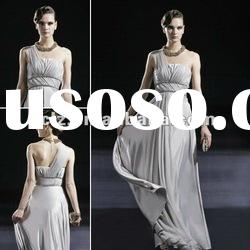 C56612 new style one shoulder silver grey lady evening ceremony dress