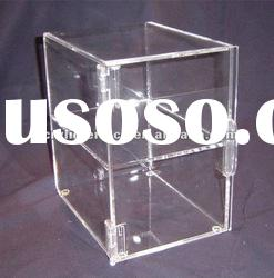 Clear Acrylic Food Display Case/Acrylic Custom Bakery Display Case