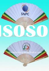 Durable Advertising Bamboo Hand Held Fans as promotional items