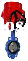 Electric actuator operated Wafer butterfly Valve