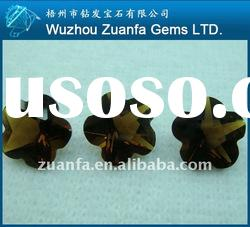 Fashion attractive flower shape olive cubic zirconia jewelry