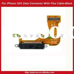 For iPhone 3GS Data Connector With Flex Cable Replacement-Black