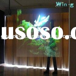 Light grey rear adhesive projection screen film for vivid winodw shop display, holographic rear film